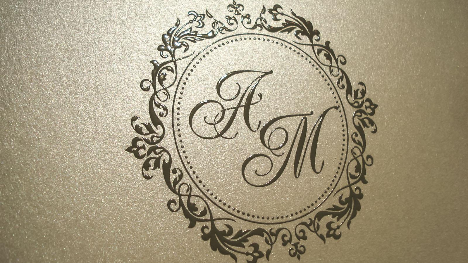 Monograma em impressão epoxi